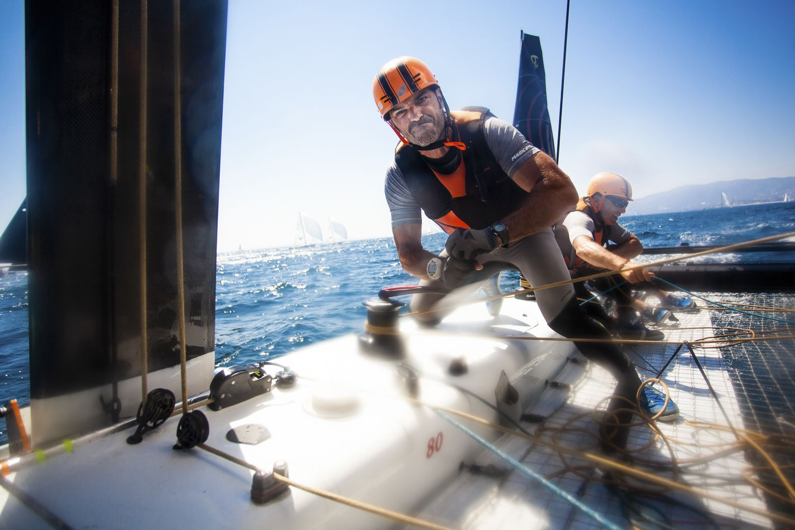 Third event of the 2018 GC32 Racing Tour, 37 Copa del Rey MAPFRE, run by Real Club Nautico de Palma. GC32 Racing Tour, 37TH COPA DEL REY MAPFRE. Photo © Tomás Moya / Sailing Energy / GC32 Racing Tour
